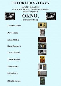 Plakát - výstava OKNO 2016