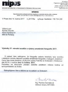 Národní 2017 - dopis